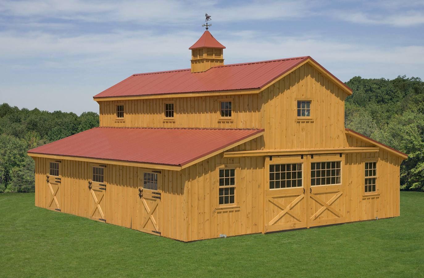 Turning a barn into a home home and living for House horse barn plans